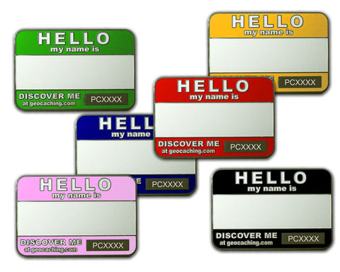 Trackable Name Tags Geocoin