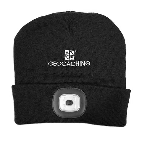 Geocaching LED Light Up Knit Beanie