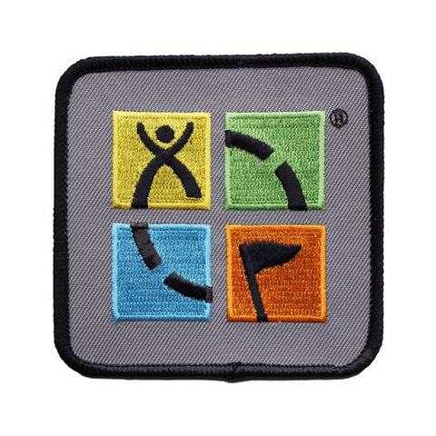 Geocaching.com 4 Colour logo patch