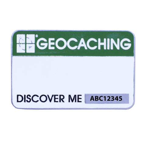 Official Groundspeak Trackable Event Name Tag