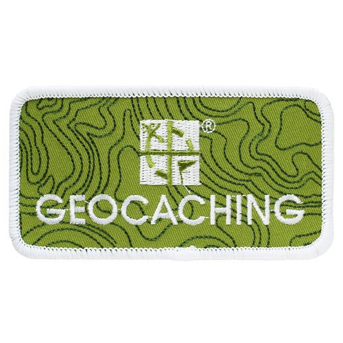 Geocaching.com logo patch - Green - with velcro