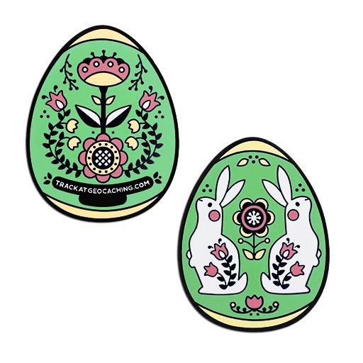 2019 Egg Geocoin- Green