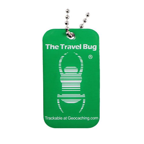 Travel Bug® GREEN Geocaching QR - Glow in the Dark