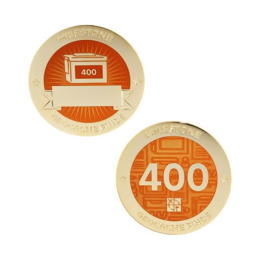 Milestone Geocoin and Tag Set - 400 Finds