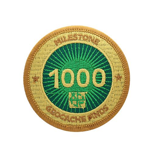 Milestone Patch - 1000 Finds