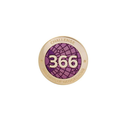 Challenges Pin - 366 Days of Geocaching