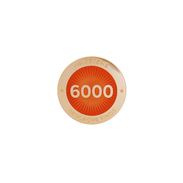 Milestone Pin - 6000 Finds