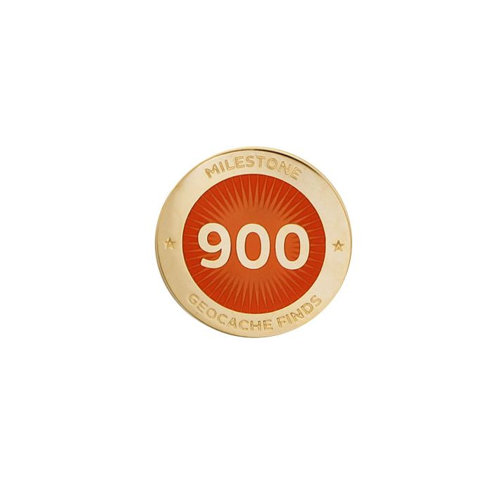Milestone Pin - 900 Finds