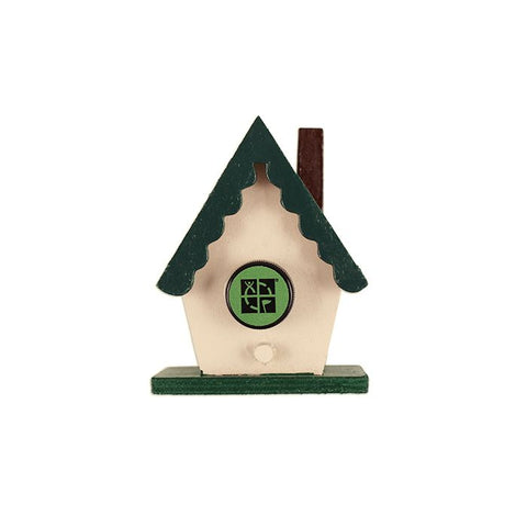 Mini Magnetic Chalet Birdhouse Cache Container
