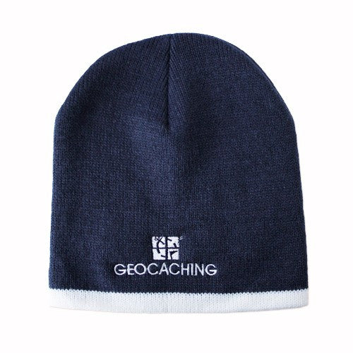 Official Groundspeak Logo Beanie - Navy and Natural