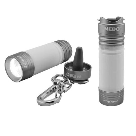 Poplite Compact Keychain Light and Lantern - Grey