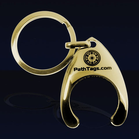 Pathtags.com Pathtag Keyring holder - gold