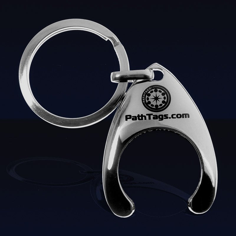 Pathtags.com Pathtag Keyring holder - silver