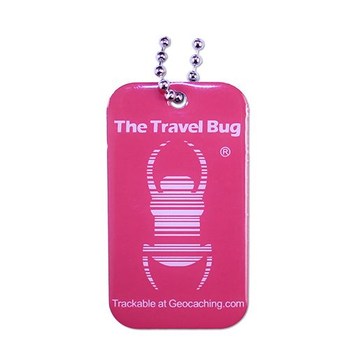 Travel Bug® ATOMIC PINK Geocaching QR - Glow in the Dark