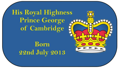 HRH Prince George of Cambridge Birth Commemorative Travel Tag