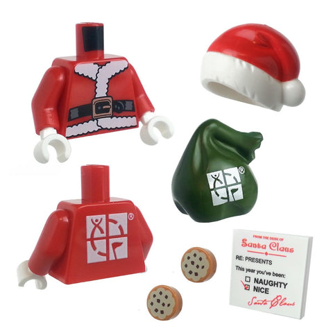 "Lego Santa Torso and Accessory Kit for 2"" Figures"