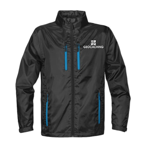 Geocaching Logo Stormtech Lightweight Jacket - Black