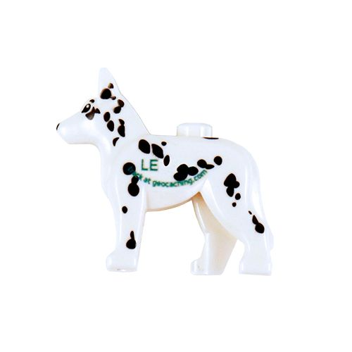 Custom Trackable GeoDog Brick- Dalmatian
