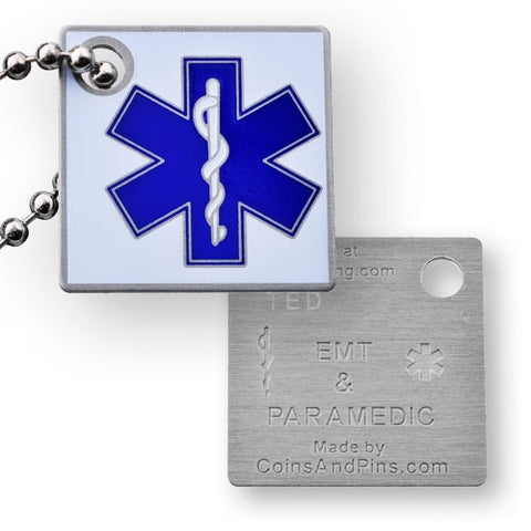 Travel Tag Honouring EMTs & Paramedics