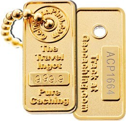 Gold Ingot Trackable Traveller