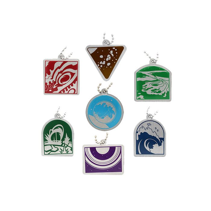 Wonders of the World Trackable Tag Solar System - All 7 Tags