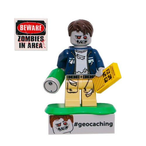Lego Zombie Cache Hunter with Trackable Brick