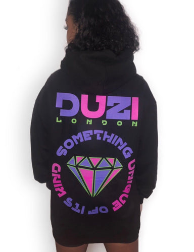 Black hoodie - pink and purple logo with back print
