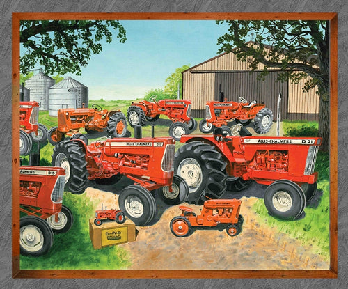 Allis Chalmers Large Panel Fabric, Gray