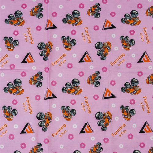 Allis Chalmers Kids Fabric, Pink