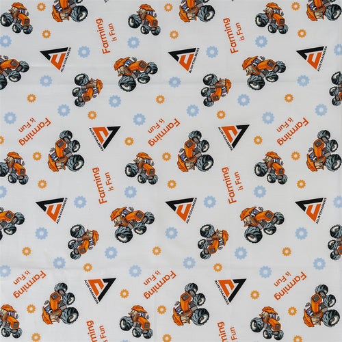 Allis Chalmers Kids Fabric, White