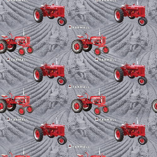 Farmall Tractor Toss, Gray