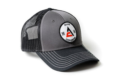 Allis Chalmers Hat, 1914 Logo, Gray with Black Mesh