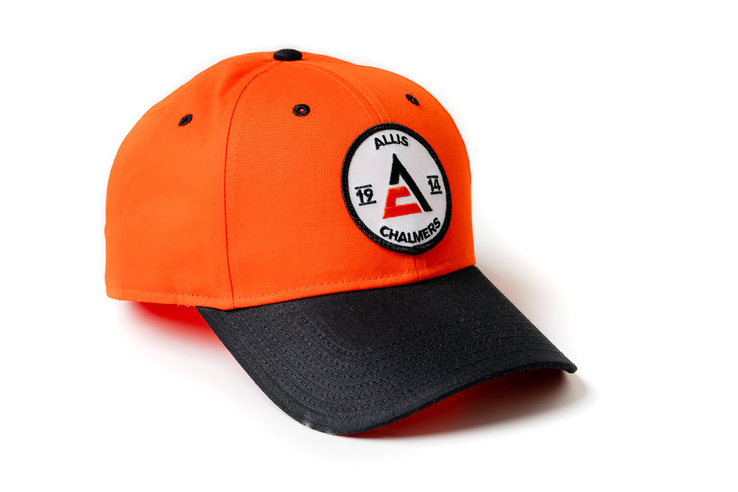 Allis Chalmers Hat, 1914 Logo, Orange/Black