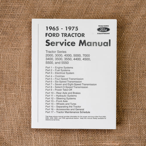 Ford Service Manual for Tractors made in 1965-1975