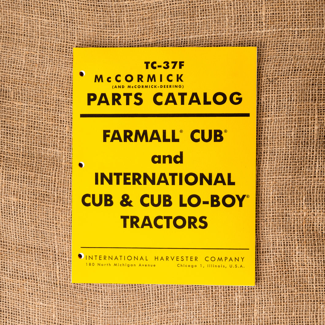 Parts Catalog for Cub and Cub Lo-Boy Tractors