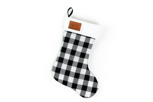 Minneapolis Moline Logo Christmas Stocking, Plaid