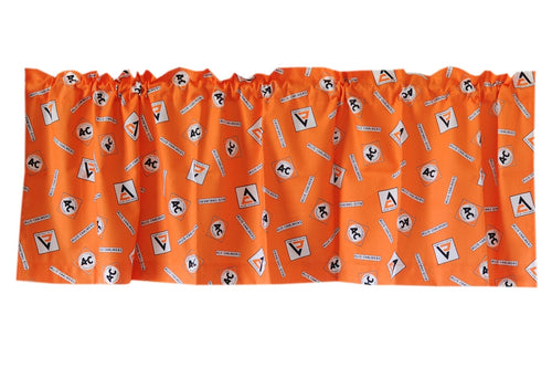 Allis Chalmers Window Valance, Orange Logo