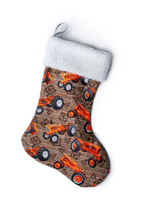 Allis-Chalmers Christmas Stocking, Brown with watermark logos