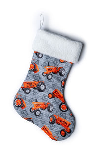 Allis-Chalmers Christmas Stocking, Gray with watermark logos