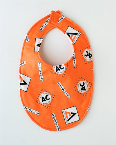 Allis-Chalmers Baby Bib, orange logo