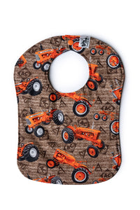 Allis Chalmers Tractor Baby Bib, Brown