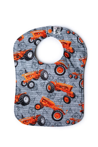 Allis Chalmers Tractor Baby Bib, Gray