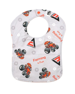 Allis Chalmers Baby Bib, Gray, Reversible