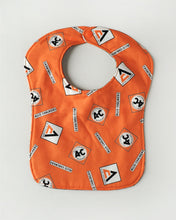 Load image into Gallery viewer, Allis Chalmers Baby Bib, Gray, Reversible