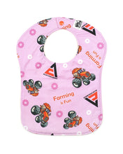 Load image into Gallery viewer, Allis Chalmers Baby Bib, Pink, Reversible