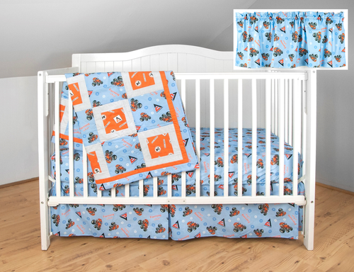 Allis Chalmers Nursery Set, Blue with Blue Sheet