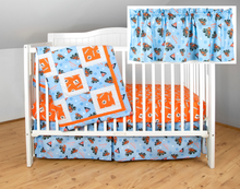 Load image into Gallery viewer, Allis Chalmers Nursery Set, Blue with Orange Sheet
