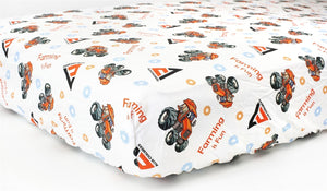 Allis Chalmers Crib Sheet, White