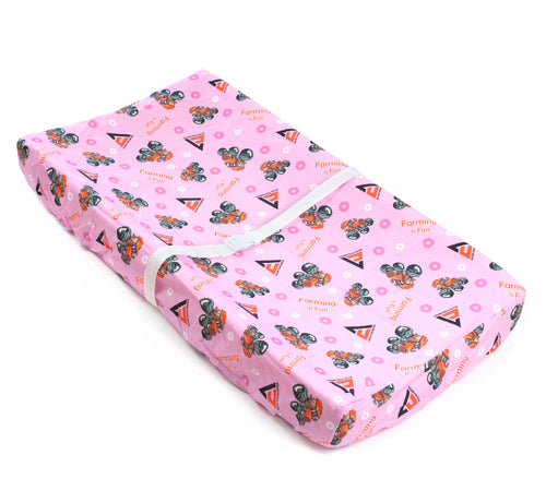 Allis Chalmers Changing Pad Cover, pink