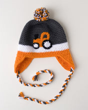 Load image into Gallery viewer, Orange Tractor Kids' Winter Hat